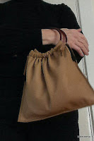 Lovelea's leather city bag with black outfit