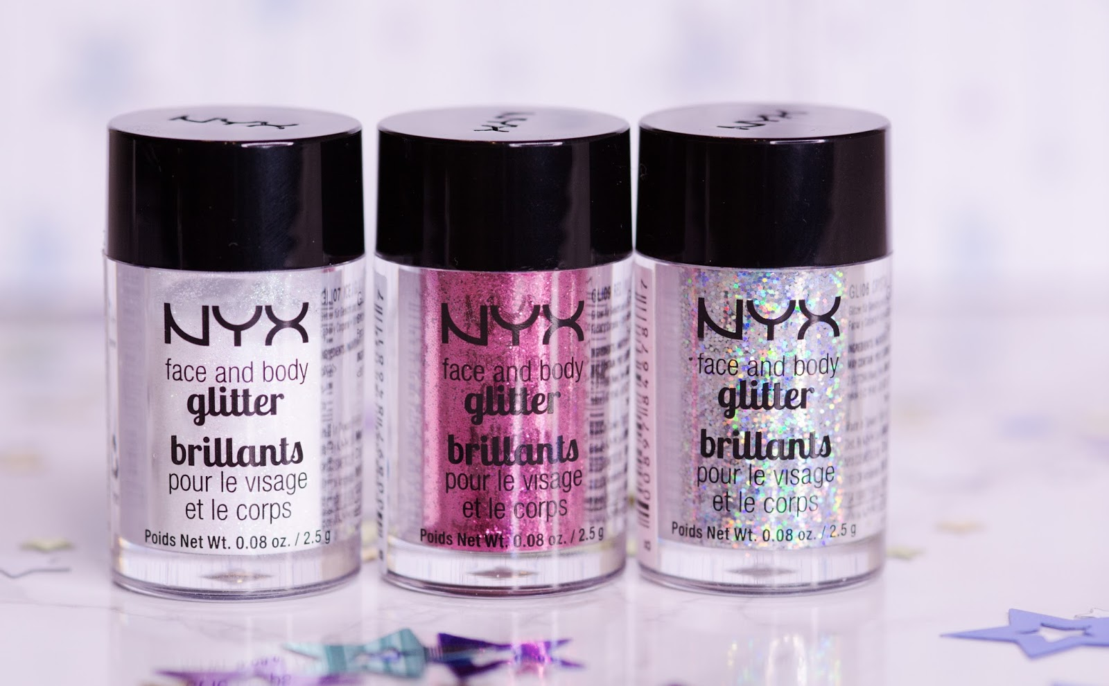 NYX Face and Body Glitter Brilliants макияжи
