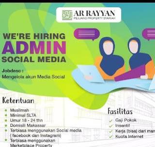 Lowongan Kerja Admin Social Media di Ar Rayyan