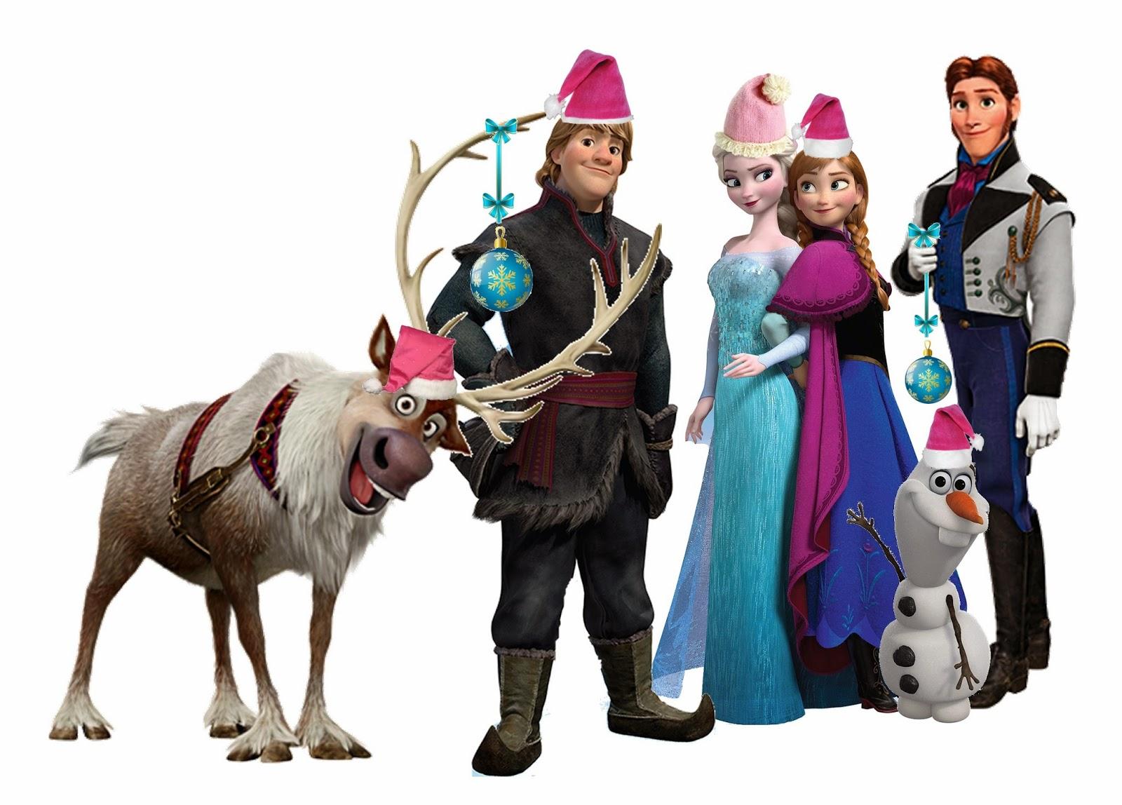 Imágenes para imprimir gratis de Frozen para Navidad.