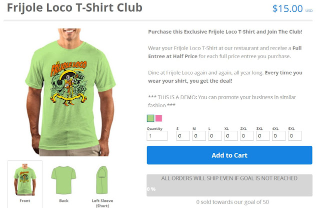 Frijole Loco T-Shirt Club Example Campaign