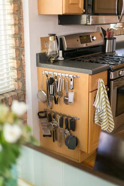 วิธีเก็บของในห้องครัวขนาดเล็ก