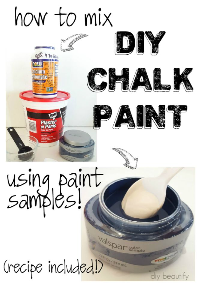 DIY chalk paint for cheap