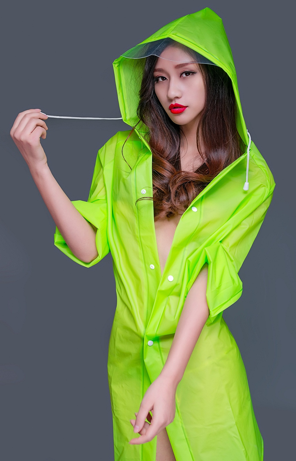 Hot Sexy Model Girls Chinese Sexy Model Girl With Raincoat-8439