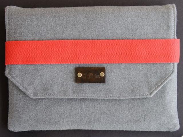 idea de funda de tablet con solapa y broche