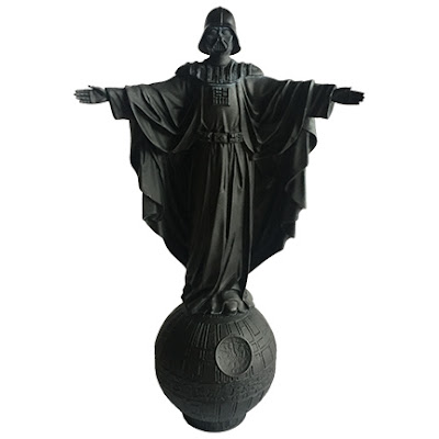"""Our Father"" Flat Black Darth Vader Star Wars Mini Resin Statue by Sket One"