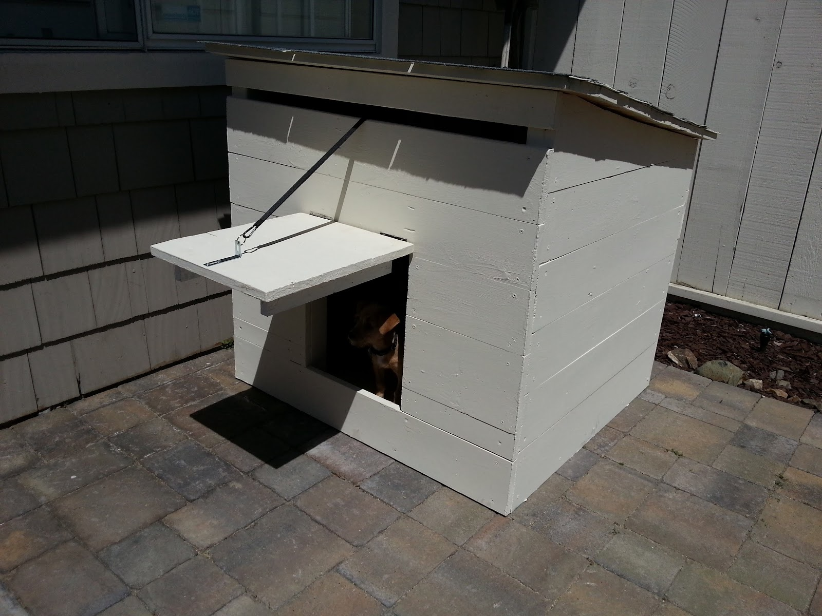 the nifty nest: DIY Mini Ranch Style Doghouse on ranch mansions, southern brick home plans, mediterranean style home plans, ranch blueprints, large family home plans, l-shaped range home plans, rustic home plans, 3 car garage ranch plans, luxury home plans, custom home plans, 1 600 sf ranch plans, ranch horses, cabin plans, log home plans, ranch decks, new ranch style home plans, patio home plans, rambler style home plans, floor plans, ranch remodel before and after,