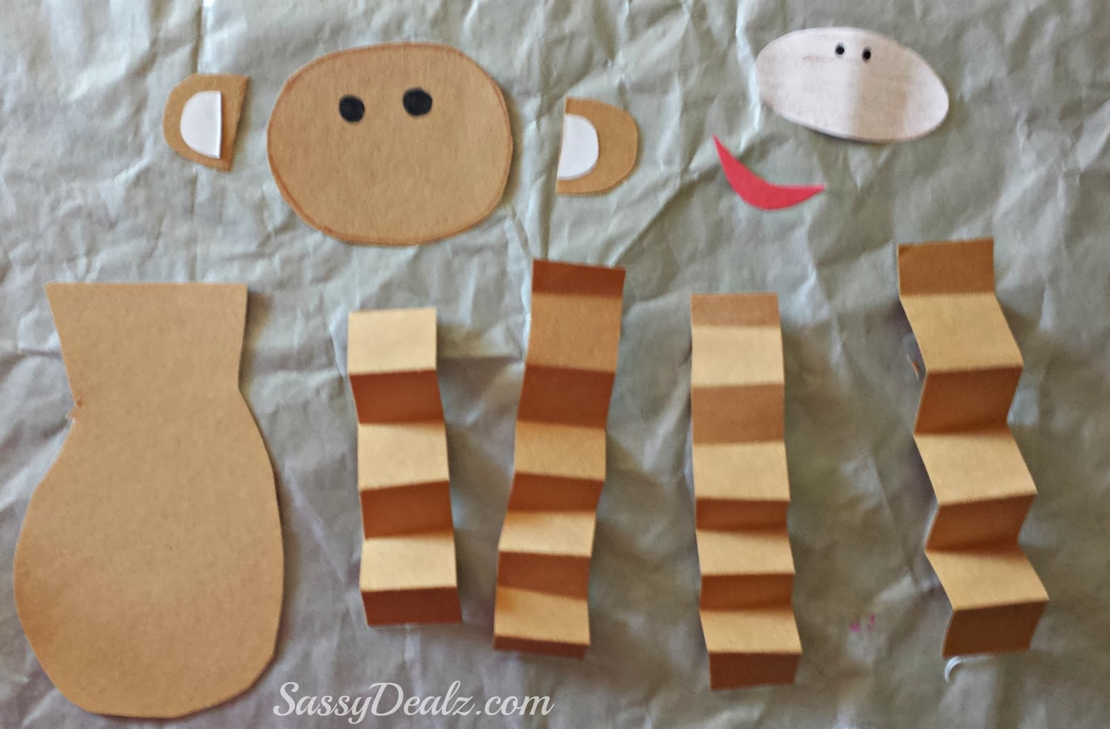 Valentine S Day Heart Monkey Craft For Kids