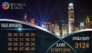 Prediksi Angka Togel Hongkong Kamis 27 September 2018