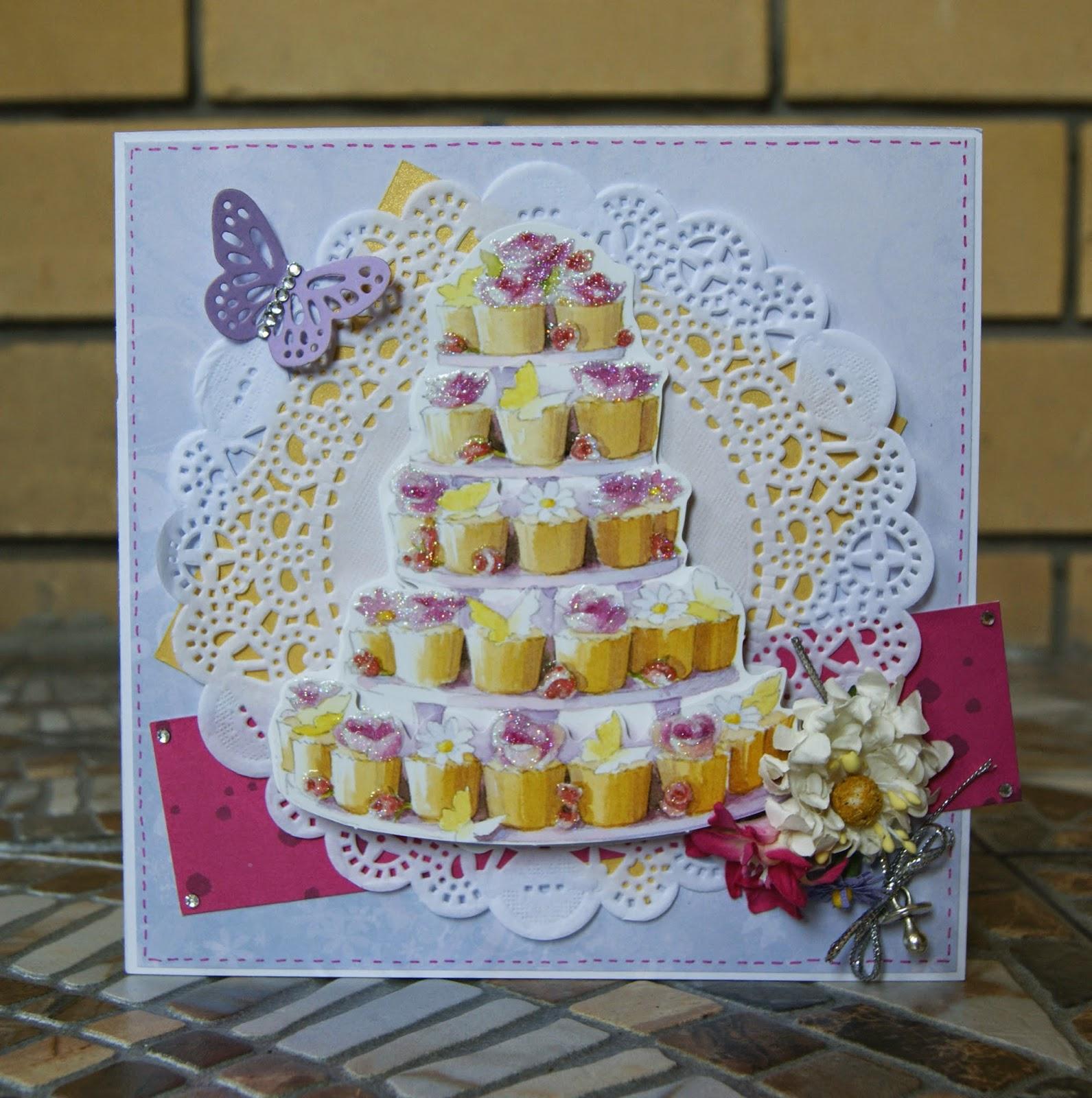 Картинки города, скрапбукинг открытка торт