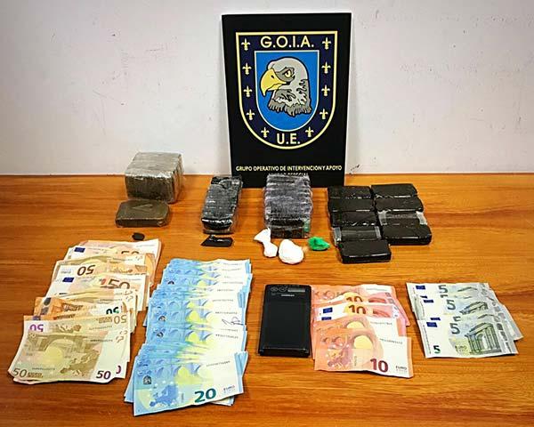 Incautados 1.800 gramos de hachís por  Policía Local Las Palmas de Gran Canaria