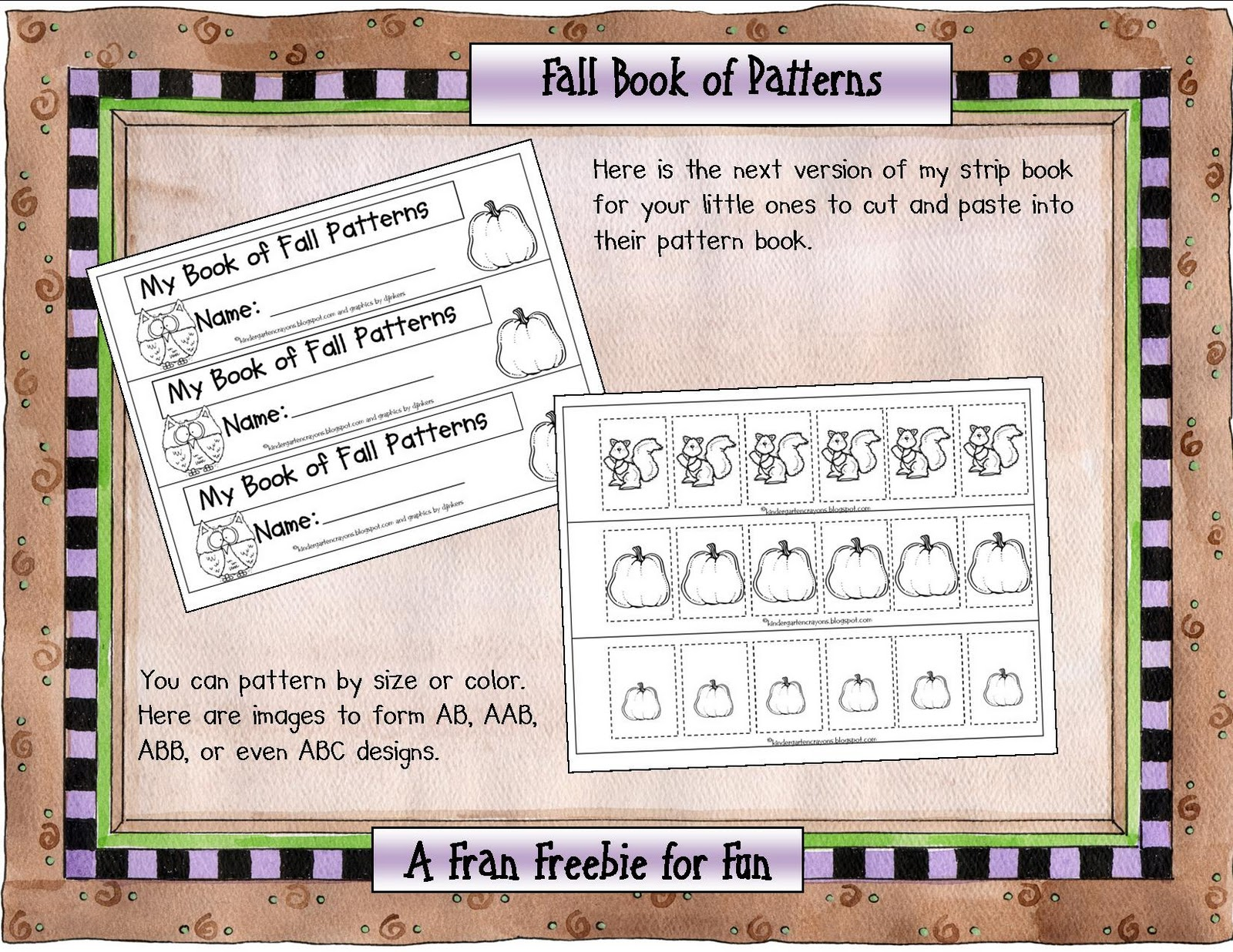 Kindergarten Crayons Fran S Freebie For Fall