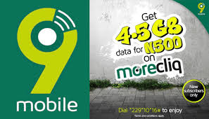 9mobile 4.5GB for 500 naira