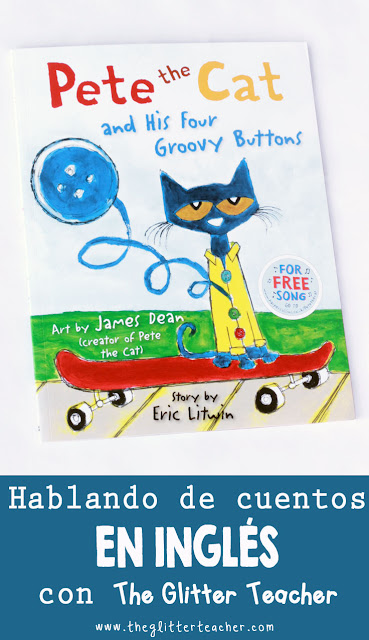 Pete the cat and his four groovy buttons, reseña de cuentos en inglés