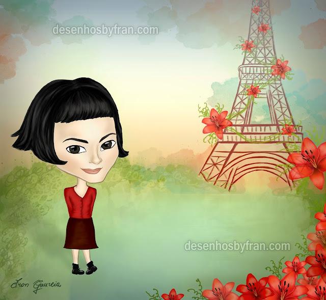 desenho Amélie Poulain