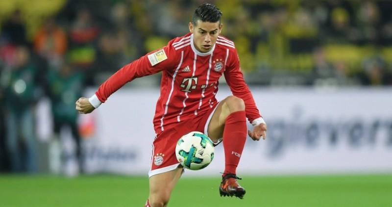 James Rodriguez berkostum Bayern Munich