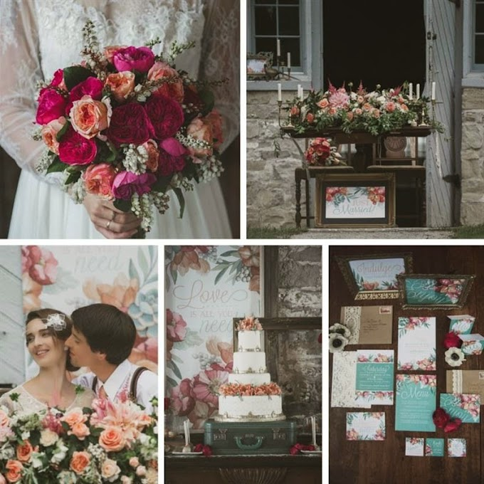 A Romantic Vintage Wedding Inspiration Shoot from Sue Gallo Designs
