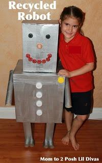 Mom To 2 Posh Lil Divas Kid Craft Recycled Robot