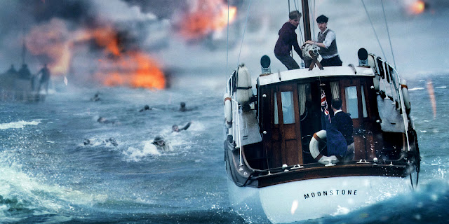"Soldiers swim to rescue in Christopher Nolan's staggering ""Dunkirk"""