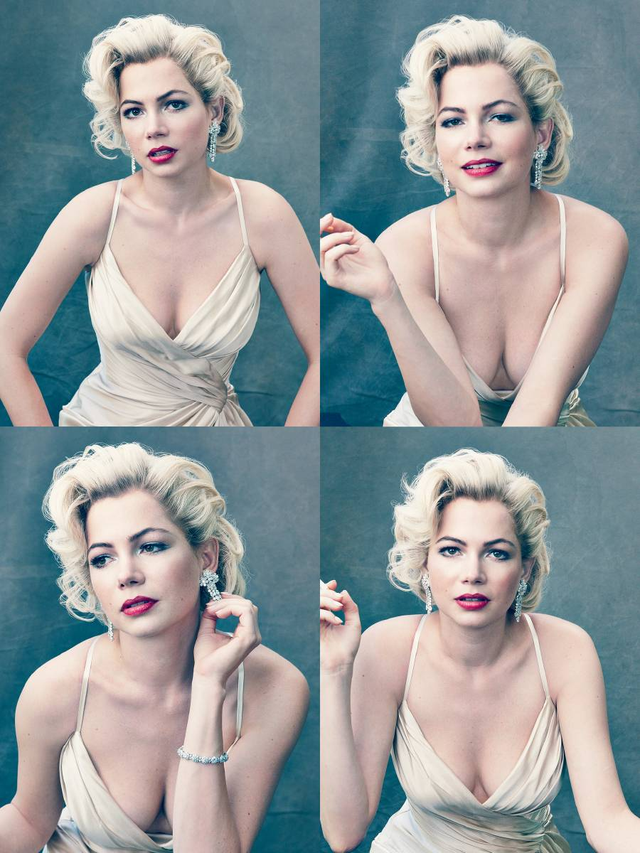 Michelle Williams paid tribute to one of the icons are so fascinating and beautiful Marilyn Monroe for the cover of the October 2011 issue of Vogue magazine.