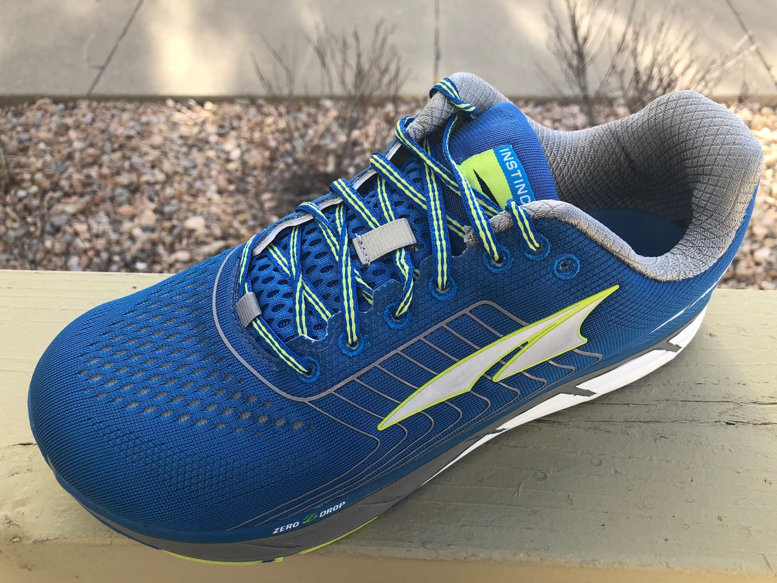 Sam: The Instinct is Altra's original road shoe. With version 4.5 the big  news is that it gets a soft engineered mesh upper for the first time.