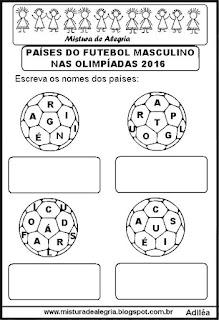 Países do futebol masculino nas olimpíadas 2016