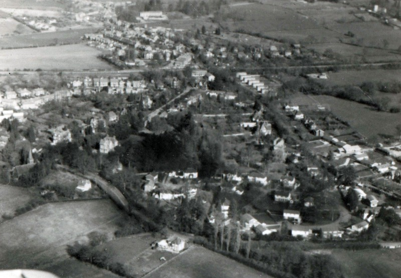 South Nutfield from the air 1970