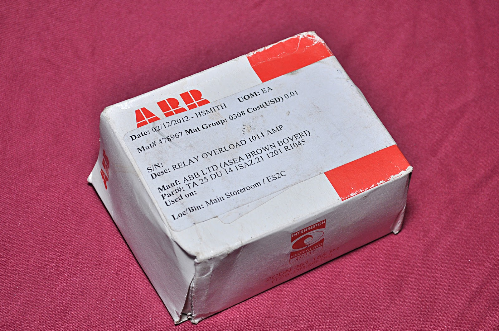 Abb Ta25 Du Thermal Overload Relay Aeliya Marine Tech Pvt Ltd Solid State Condition New 1 Pcs Ref 2757