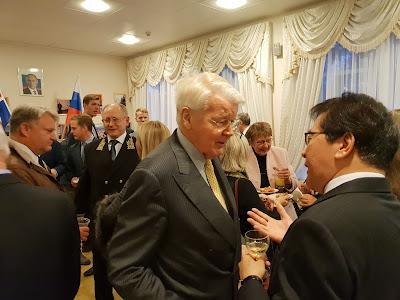 5-й Президент Исландии Олафур Рагнар Гримссон, Посол России в Исландии А. В. Васильев, Посол Японии в Исландии Ясухико Китагава