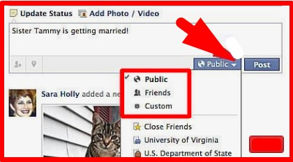 how to make facebook private from public
