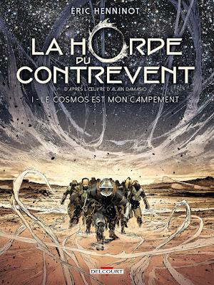 couverture de LA HORDE DU CONTREVENT par Eric Henninot d'après Alain Damasio