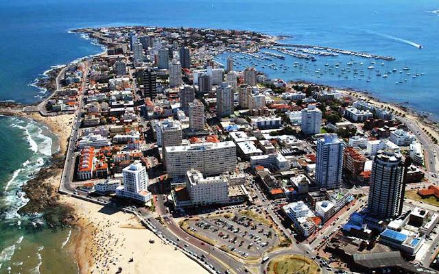 Imagem aérea de Punta del Este