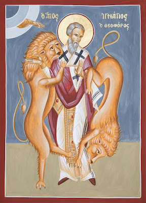 St Ignatius Of Antioch by hand of Julia Bridget Hayes in 2018