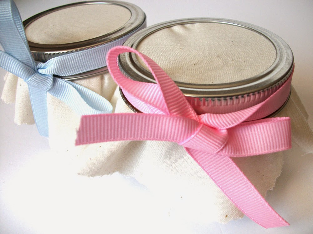 baby shower favor jars