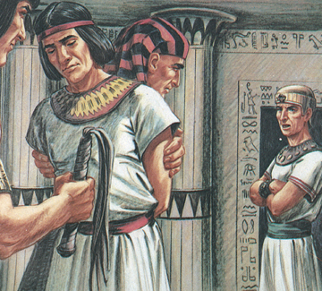 Potiphar was angry at Joseph. He has Joseph immediately Imprisoned, with no Interrogation, let alone a trial (Genesis 39:19-20).