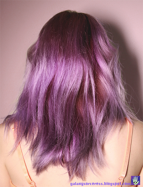 how to dye your hair purple fade results