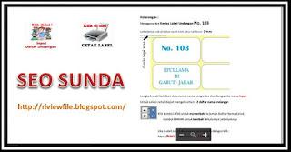 Aplikasi Label Kartu Undangan Otomatis-SEO SUNDA