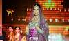 Neha Dhupia in Purple Bridal Dress