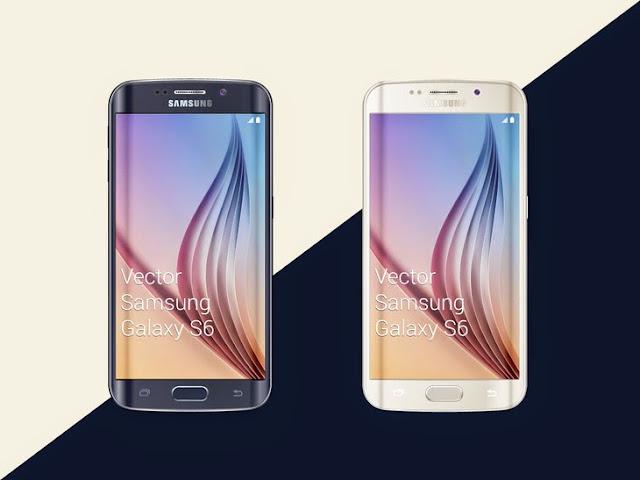 Samsung Galaxy S6 Smartphone Mockup