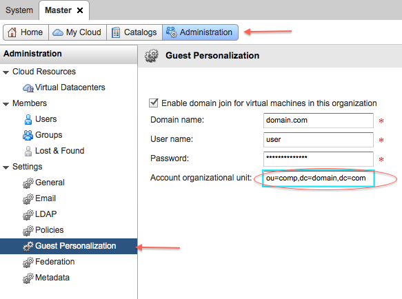 Just Another IT blog: VMware vCloud O S  Customization