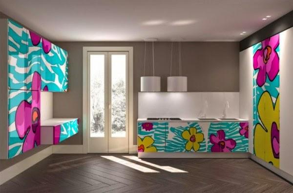 inspiring bright color kitchen design   15 Modern kitchen design ideas in bright color combinations