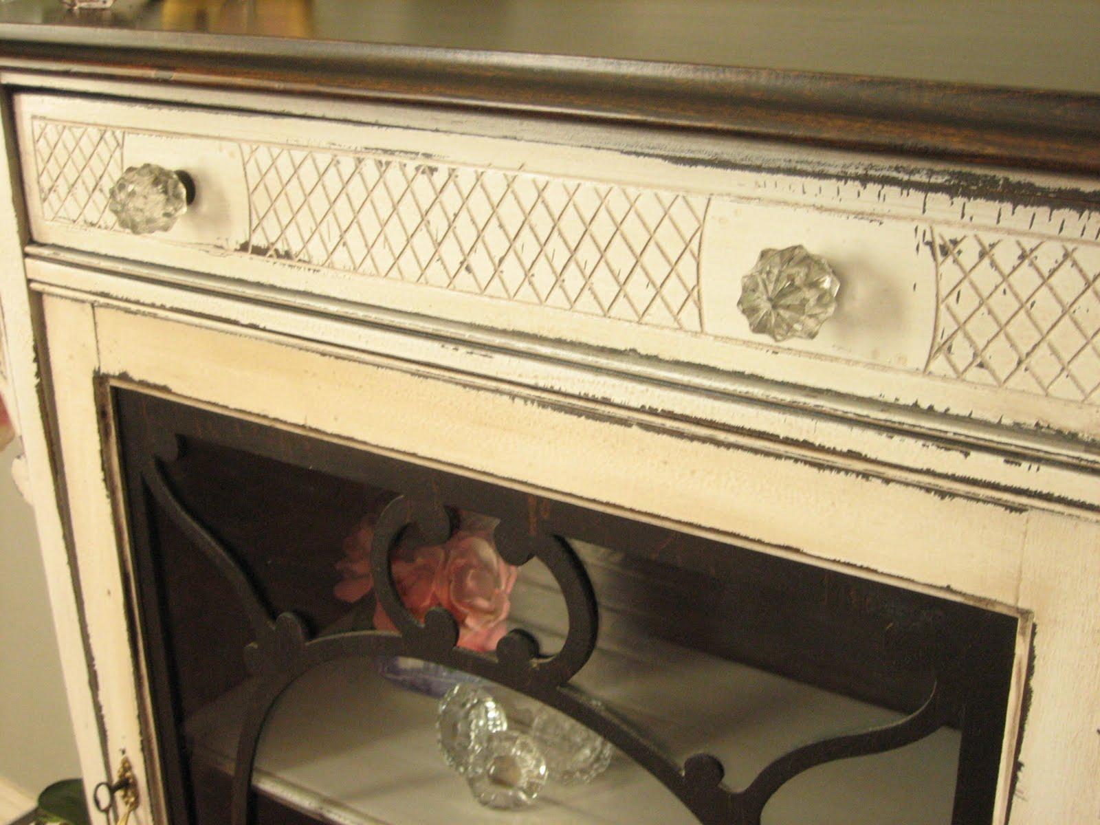 european paint finishes april 2011 antique white curio cabinet sale Painting an Oak Curio Cabinet White