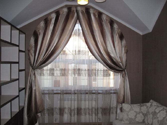 Curtains Ideas curtains for half moon windows : 20 Arch window curtains and Tips on Arched Window Treatments