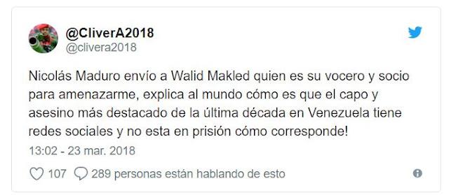 Cliver Alcalá asegura que Makled es un  delincuente protegido por Maduro