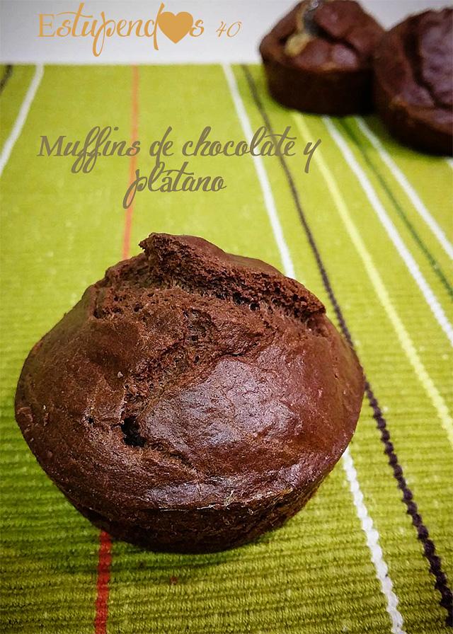 muffins-de-chocolate-y-plátano