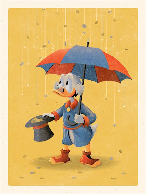 Mondo Ducktales Screen Print Series  - Scrooge McDuck  Standard Edition by DKNG