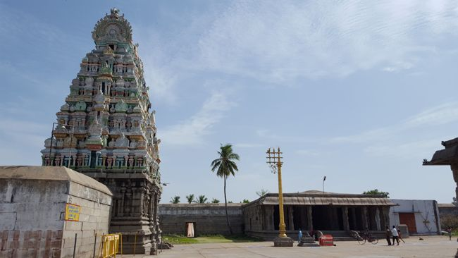 Sri Yoga Ramar Temple Inner Raja Gopuram With Kodimaram