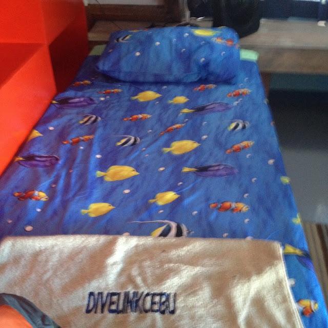 a bed at the Thresher Shack at Divelink Cebu