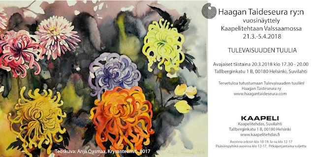 Haagan Taideseuran vuosinäyttelymainos 2018