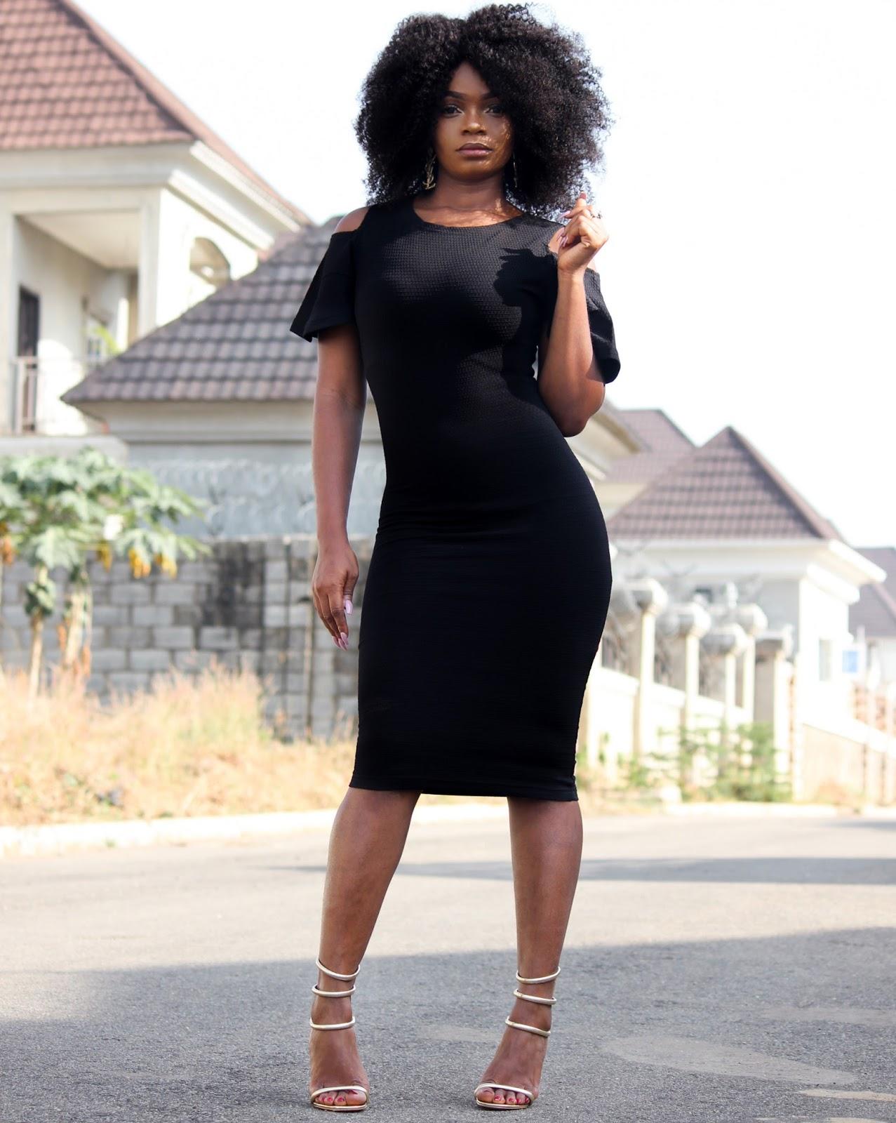 BLACK COLD SHOULDER DRESS - Jumia Black Cold Shoulder Dress JumiaxJustPorsh